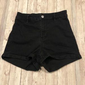 H & M Divided black jean shorts